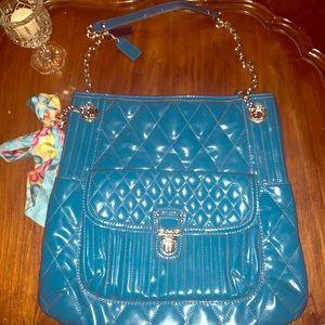 Handbags - Coach Blue Patent Leather Purse